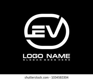 Cv Logo Letter Design Vector Red Stock Vector Royalty Free