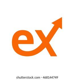 E X Initial Logo Design