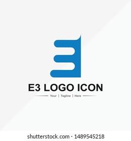 E3 blue icon for company