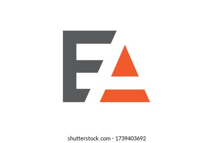 EA or AE Letter Initial Logo Design, Vector Template