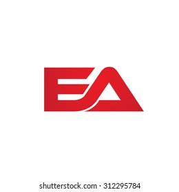 EA company linked letter logo