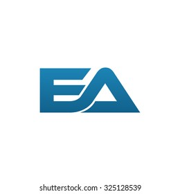EA company linked letter logo blue