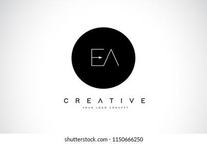 EA E A Logo Design with Black and White Creative Icon Text Letter Vector.