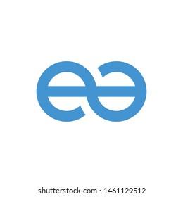 EA initial letter logo template vector icon design