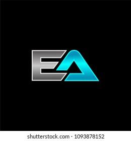 EA Logo Design Template. Letter Logo Vector eps.10