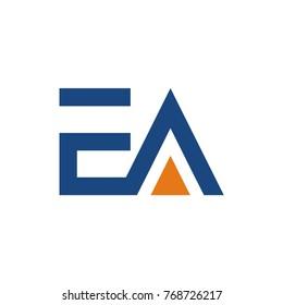EA logo initial letter design template vector illustration