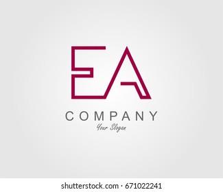 EA Logo. Letter design vector