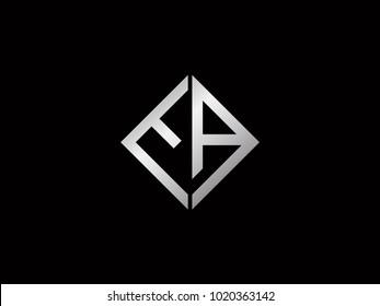 EA square shape silver color logo