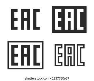 EAC mark eurasian conformity symbol vector image