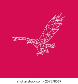 Eagle abstract isolated on a white backgrounds, vector illustration