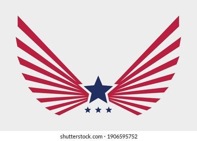 Eagle american symbol vector illustration. USA freedom creative logo.