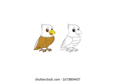 Eagle Animal Cartoon Vector Illustration Bundle
