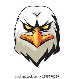 eagle animal wild head colorful character icon vector illustration design