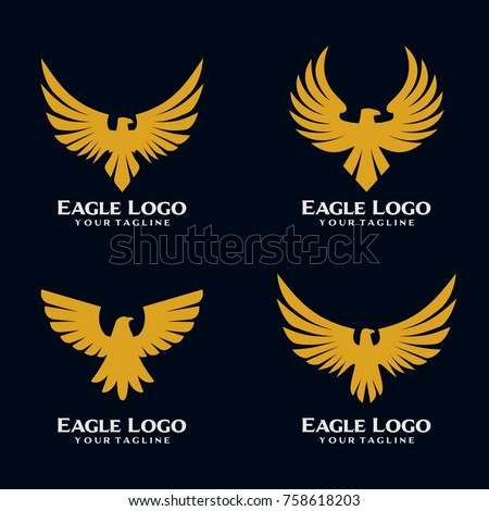 eagle bird logo template stock vector royalty free 758618203