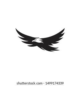 Eagle bird negative space. Vector logo icon template