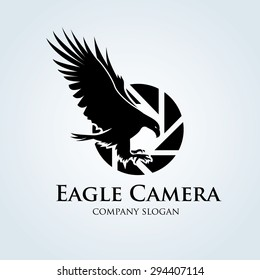 Eagle Camera Photography Logo Design Template