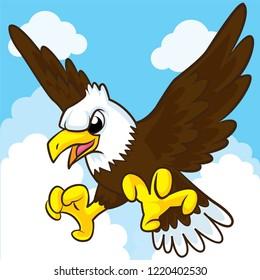 Eagle cartoon, cartoon cute, animal cute