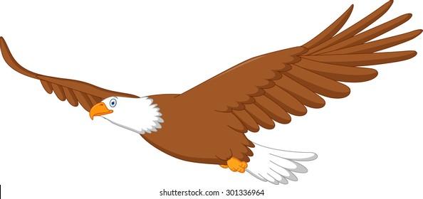 Eagle cartoon flying
