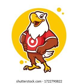 eagle cartoon logo design vector template