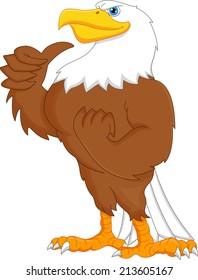 eagle cartoon thumbs up