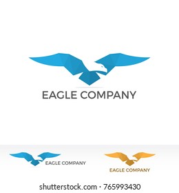 Eagle Company Logo Ilustration Template