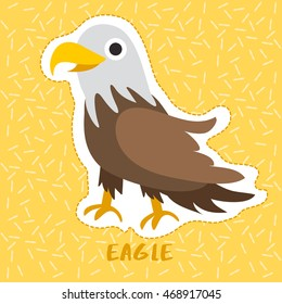 Eagle : Cute Animal Set :  Vector Illustration