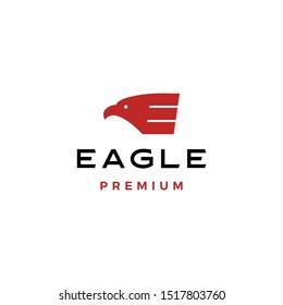 Eagle E letter logo evctor icon illustration