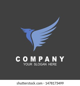 eagle element logo, triangular vector shape, geek, strict eagle flying, bird, wings, feather, eagle, isolated