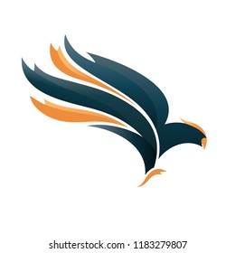 Eagle emblem, falcon logo, hawk insignia, vector template