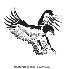 Eagle emblem isolated on white vector illustration. American symbol of  freedom.