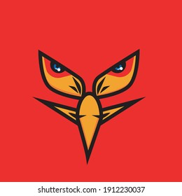 eagle eye artwork illustration with open mouth, for t-shirt design or print media