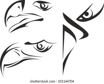 Eagle eye vector tattoo