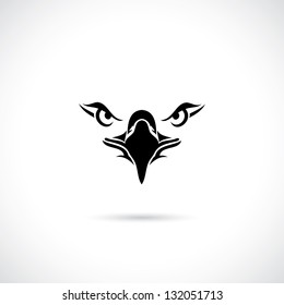 Eagle face - vector illustration