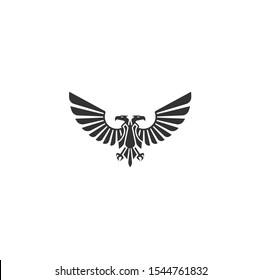 Eagle, Falcon, Hawk, Abstract Logo design vector template