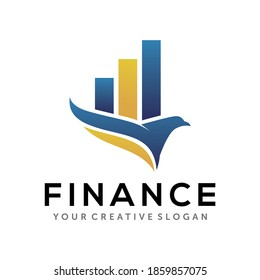 Eagle Finance Logo. Business and Accounting Logo design vector template