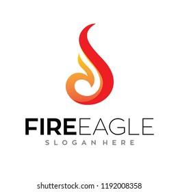 Eagle fire, Phoenix Logo Vector