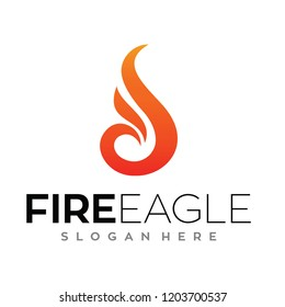 Eagle fire, Phoenix Logo Vector