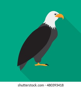 eagle flat icon. You can be used eagle icon for several purposes like: websites, UI, UX, print templates, promotional materials, info-graphics, web and mobile phone apps.
