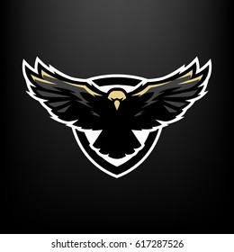Eagle in flight, logo, symbol.