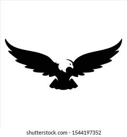 Eagle fly logo designs , vector wild eagle bird falcon hawk isolated