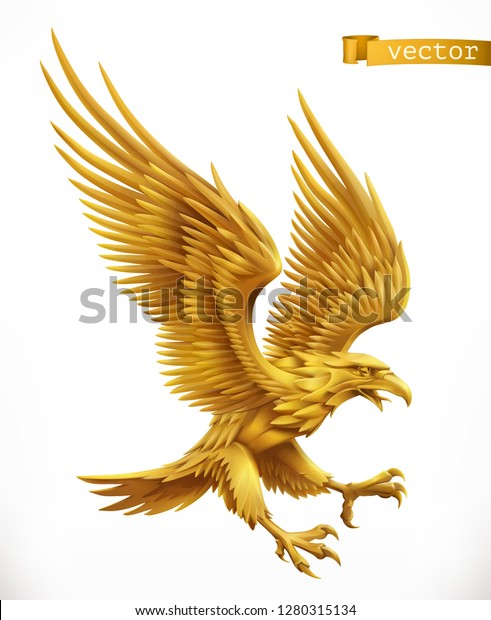 Eagle Gold Emblem 3d Vector Icon Stock Vector (Royalty Free) 1280315134