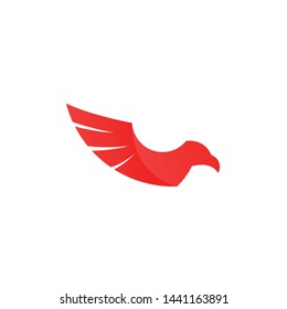 Eagle Gradation Logo Template. Abstract Animal Logo Concept in Gradation Color on Isolated White Background