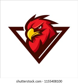 eagle head animal mascot - logotype concept - sporty vector illustration