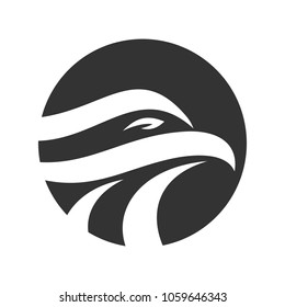 Eagle head and circle symbol. Logo. Vector 10.