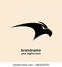 eagle head icon and logo design