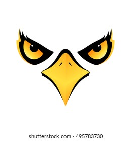 eagle head isolated concept design on white background for your designs vector icon eps10
