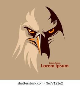 eagle head for logo, simple illustration