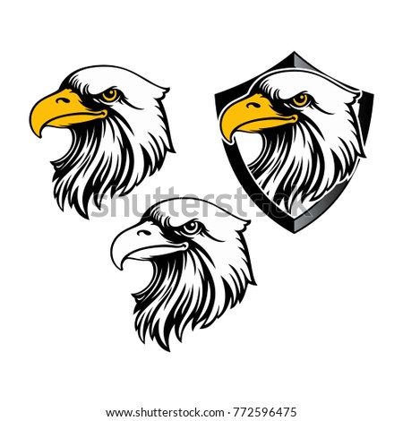 eagle head logo template hawk mascot stock vector royalty free