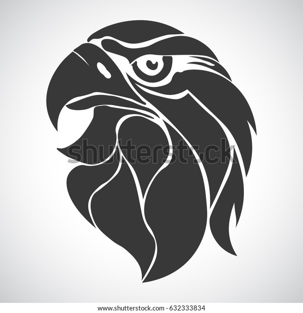 Eagle Head Logo Template Hawk Mascot Stock Vector (Royalty