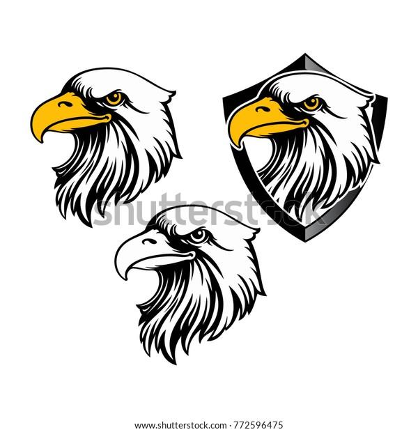 Eagle Head Logo Template Hawk Mascot Stock Vector (Royalty